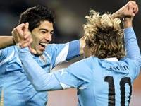 לואיס סוארז, דייגו פורלאן, נבחרת אורוגוואי / צלם: רויטרס